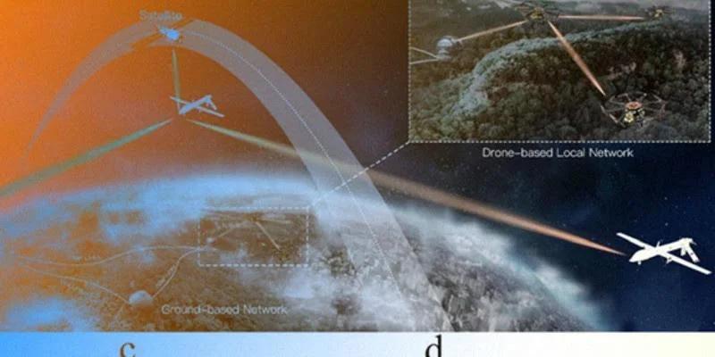 red cuántica de drones